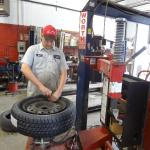 Another tire mounted
