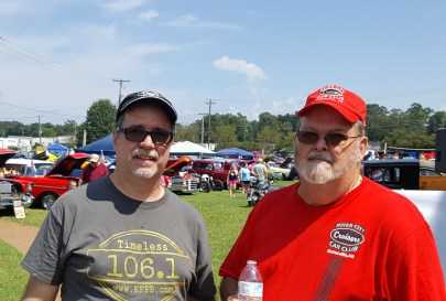Bob Connell and Dwane Thompson President of the Ricer City Cruisers