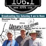 Join Timeless 106.1 KFFB on Location at the Arkansas Folk Fest Saturday April 15th