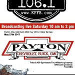 Timeless 106.1 KFFB on Location at Payton Chevrolet Buick GMC Saturday May 27th