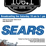 Timeless 106.1 KFFB at Sears in Batesville Saturday, July 22nd, from 10 am to 1 pm