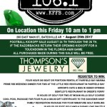 Timeless 106.1 KFFB at Thompson Jewelry in Batesville Friday, August 25th