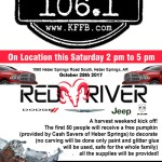 Timeless 106.1 KFFB at Red River Dodge in Heber Springs, Saturday, October 28