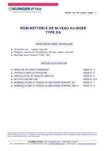 thumbnail of KLINGER INDICATEURS DE NIVEAU-insttruction de montage 11