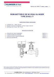 thumbnail of KLINGER INDICATEURS DE NIVEAU-insttruction de montage 12