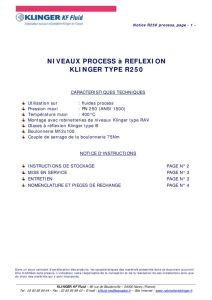 thumbnail of KLINGER INDICATEURS DE NIVEAU-insttruction de montage-application process 18