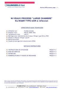 thumbnail of KLINGER INDICATEURS DE NIVEAU-insttruction de montage-application process 19