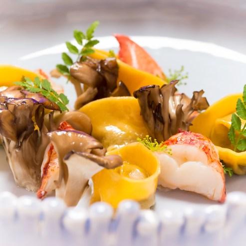 The-Ocean-Wild-mushroom-tortellini-lobster-confit-maitake-bisque