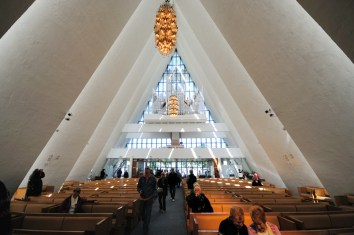 Arctic Cathedral, from the front looking back toward the organ