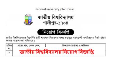 Photo of জাতীয় বিশ্ববিদ্যালয় নিয়োগ বিজ্ঞপ্তি ২০১৯