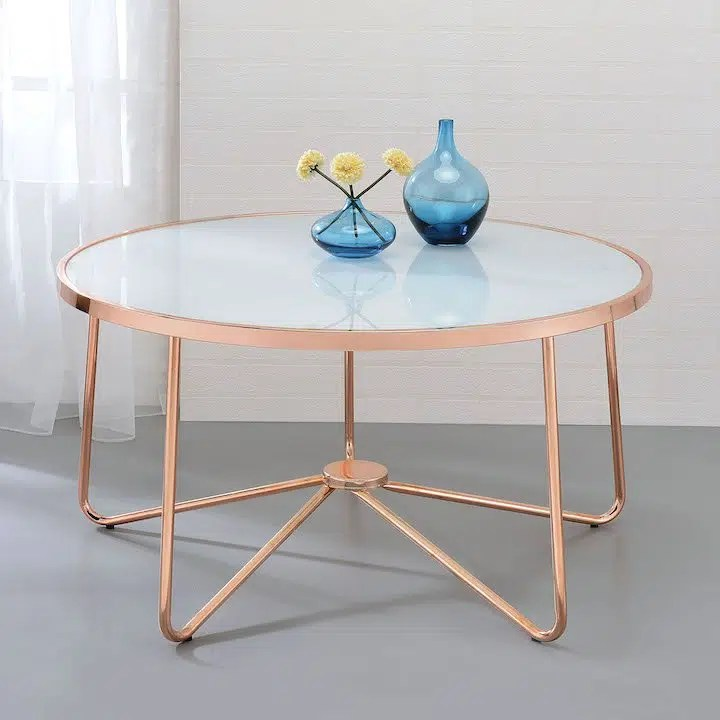 alivia contemporary chrome tables