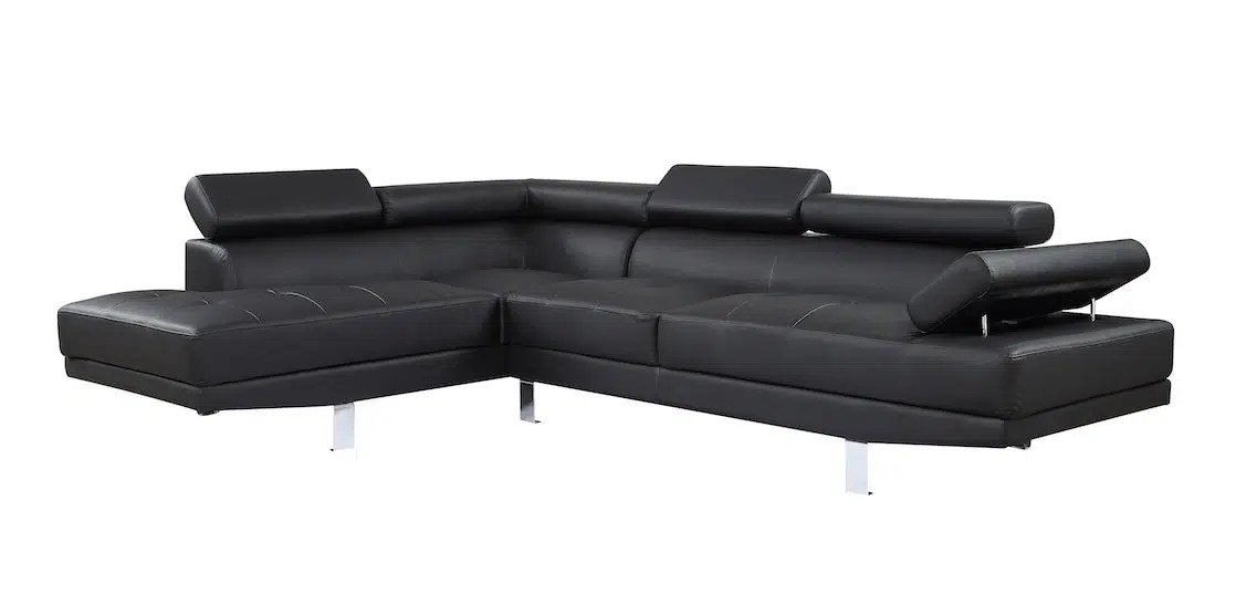 connor leather sectional sofa