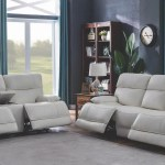 Stanford White Leather Reclining Living Room Set Kfrooms