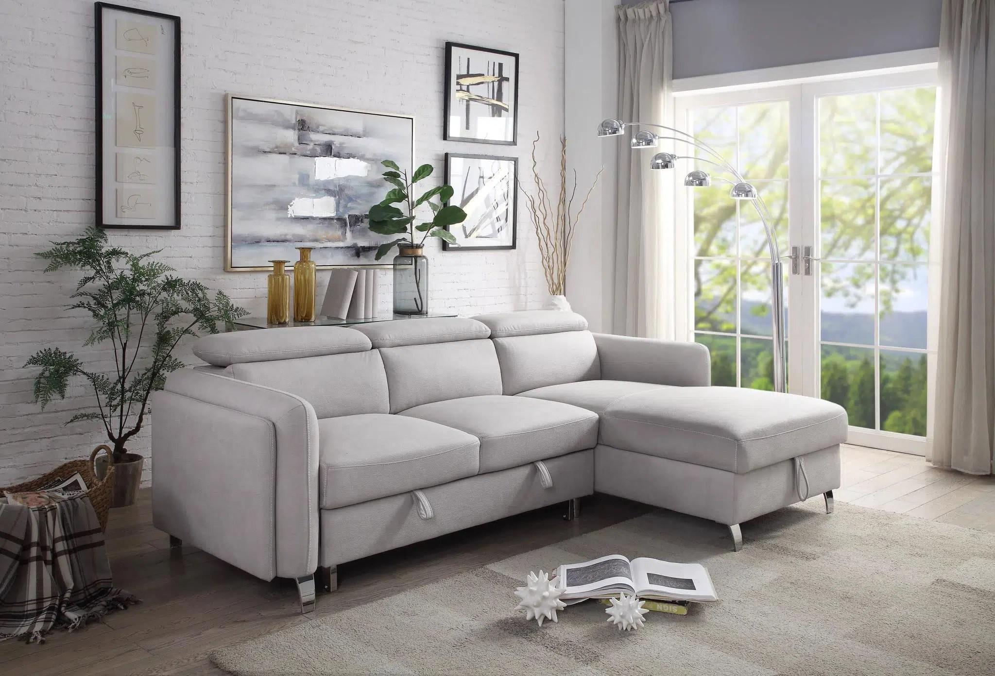 reyes sleeper sectional sofa