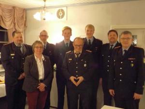 Von links: Dieter Mohr, Uta Lüßmann, Gerrit Marek, Sönke Busch, Rainer Gerbsch, Hauke Busch, Stefan Nitt, Stefan Dehmel