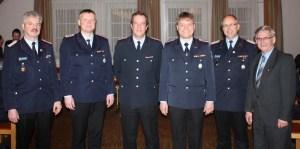 v.l. Michael Sander, Karsten Brammer, Ralf Siemsglüß, Christian Brammer, Dirk Heindorff und rainer Prokop
