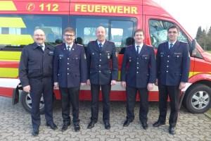 Von links: Volker Prüsse, Patrick Höfer, Gerd Krause, Timo Oberste-Lehn, Thomas Strothmann