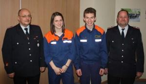 JGF Führung von links: André Dichter, Lara Rißmann, Florian Hahn und Frank Kroll