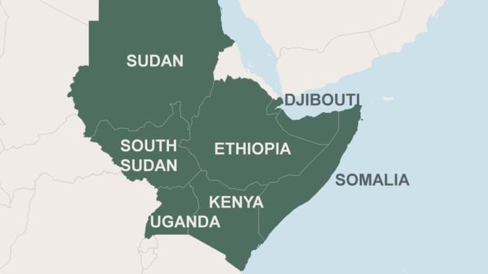 Image result for igad region map