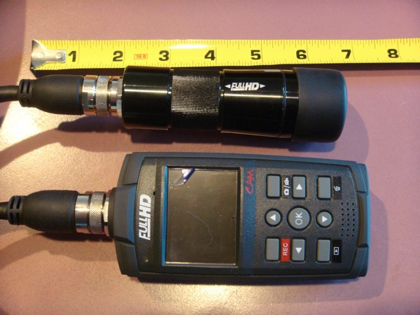 Showing the size of the camera and recorder