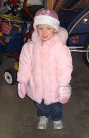 Dinah ready for snow