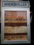 Sign outside the Brickskeller's