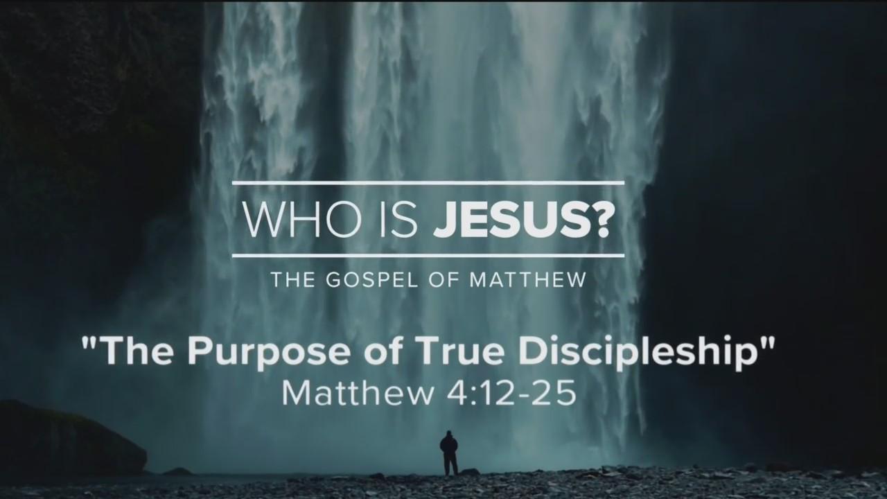Today's Walk - The Purpose of True Discipleship