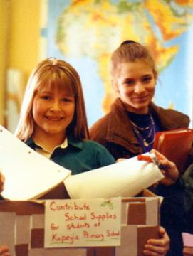 Dwight Englewood students, longtime KOBLAS sister school