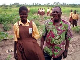 Former Headmaster Mr. Denutsui visits the KOBLAS farming plots