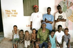 Kwami Bedi and some of his children