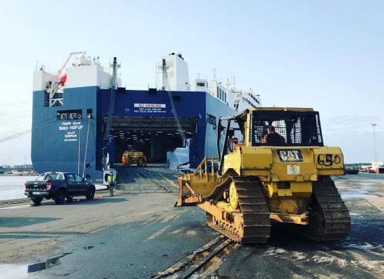 heacy machinery roro shipping