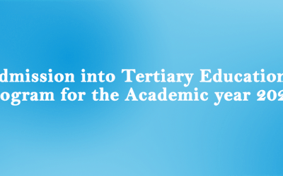 Admission into Tertiary Education Programmes for the Academic Year 2021