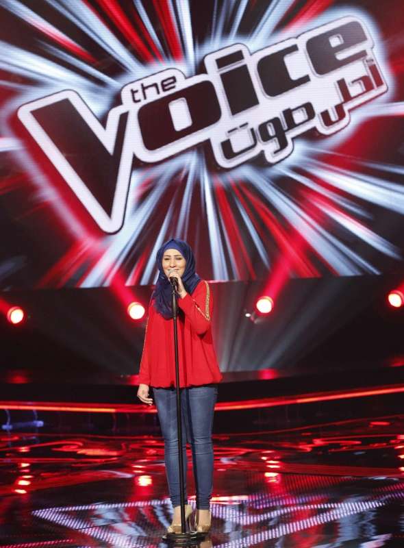 MBC1 & MBC MASR the Voice S3 - Blind 3 - Chirine's team - Nidaa Charara (590x800)