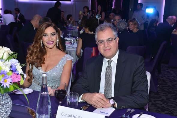H.E Consul of Lebanon in Dubai Sami Nmeir with Karen Boustany