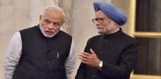 Manmohan-Singh with narendra modi