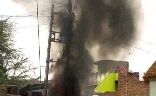 ट्रांसफार्मर में लगी आग, बड़ा हादसा टला