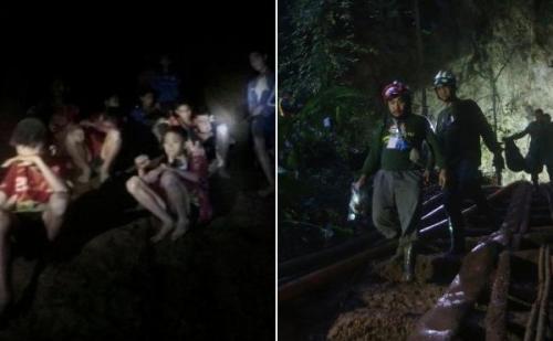 थाम लुआंग गुफा में फंसे फुटबॉल खिलाड़ियों की टीम, रेस्क्यू टीम का ऑपरेशन जारी
