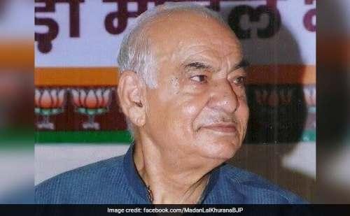 दिल्ली के पूर्व मुख्यमंत्री मदनलाल खुराना का निधन