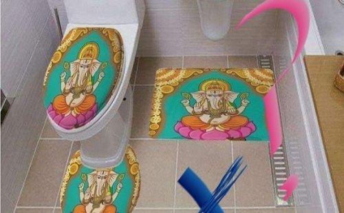 अमेजन बिक्री मंच पर बिके हिंदू देवी-देवताओं की तस्वीरों वाले टॉयलेट सीट