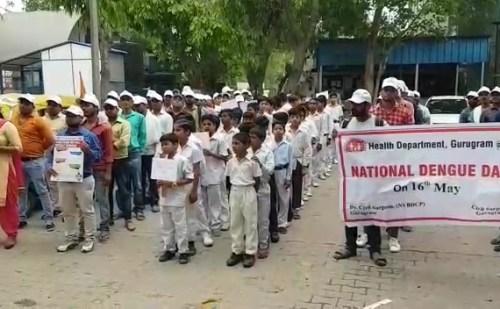 नेशनल डेंगू दिवस पर नगर निगम और स्वास्थ्य विभाग ने निकाली रैली