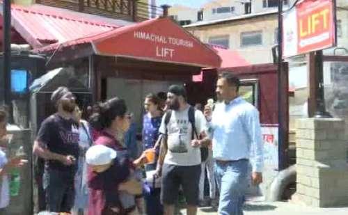 हिमाचल: शिमला में पर्यटन निगम की लिफ्ट खराब, सैलानी बेहाल
