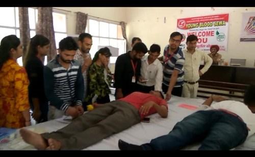टोहाना: नागरिक अस्पताल में किया गया रक्तदान शिविर का आयोजन
