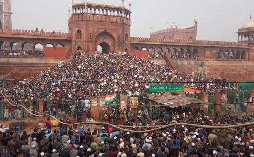 दिल्ली की जामा मस्जिद पर प्रदर्शन, कई इलाकों में धारा 144 लागू