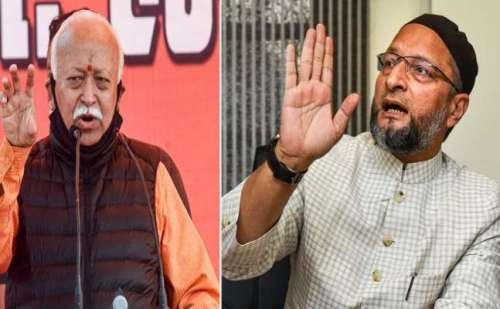 RSS प्रमुख के 'लिंचिंग' वाले बयान पर ओवैसी का पलटवार- देश में हिंदुत्व की देन है ये नफरत !