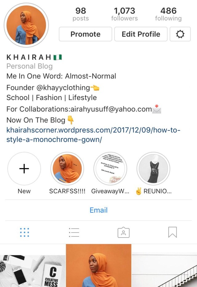meet the girl- @khairahscorner on Instagram