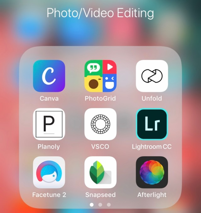 Apps to use for editing flatlay photography