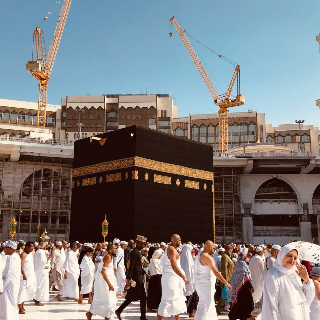 the holy kaabah, makkah, mecca, saudi arabia