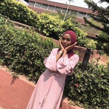 modest muslim fashion maxi dress belt sleeve details custom opera mauve taupe mauve belt blood red premium rayon scarf styling veiled collection blogpost khairahscorner sleeve view