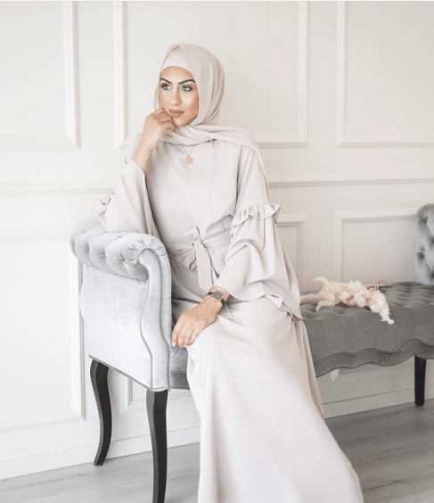 modest muslim fashion maxi dress belt sleeve details veiled collection blogpost khairahscorner