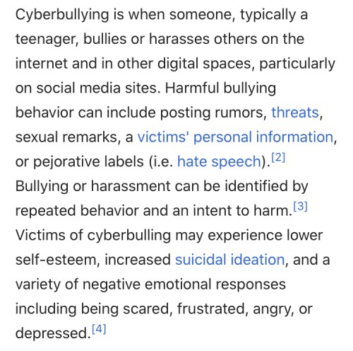 cyber bullying anonymous messaging slander wikipedia definition